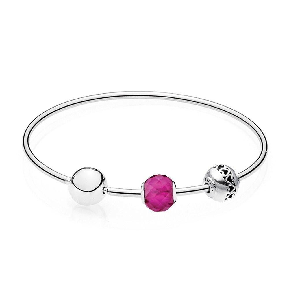 Nouveau 100% 925 bijoux en argent Sterling nouvelle Essence bonheur cadeau Bracelet ensemble bricolage amour cadeau