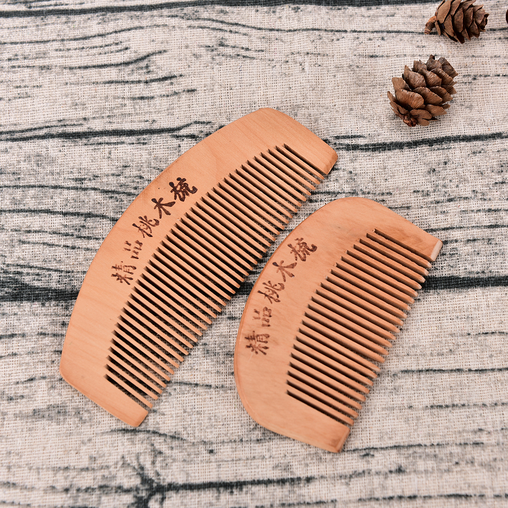 S/L Pocket Comb Handmade Sandalwood Anti-Static for hair Beard And Mustache Combs Hair Brush 1