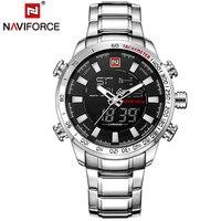 NAVIFORCE часы для мужчин лучший бренд класса люкс цифровые аналоговые спортивные наручные Военная Униформа Нержавеющая сталь Мужской