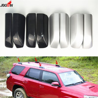 For Toyota 4Runner N280 2010 2018 Silver & Black Roof Rack Luggage Rack Bar Rail End Replacement Cover Shell Trim Cap