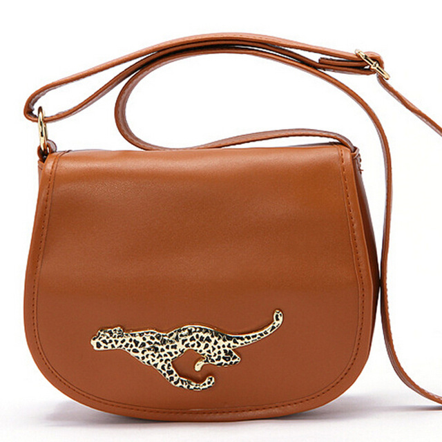 Hot Women Leather Messenger Bag Cross Body Shoulder Lady Purses And Handbags Leopard Bolsa Feminina B50424a In Crossbody Bags From