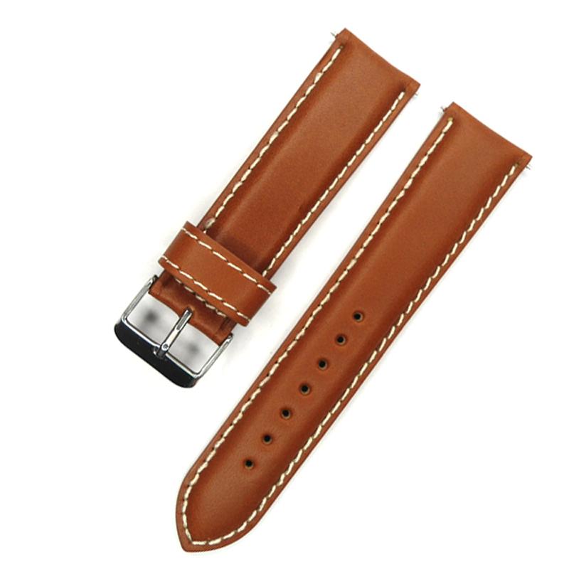 Prix pour Italie Huile En Cuir Véritable Bracelet De Montre 22mm Bracelet Brun Clair Vintage Style Bande de Montre Pour Montre Pour Heure Pour poignet montre