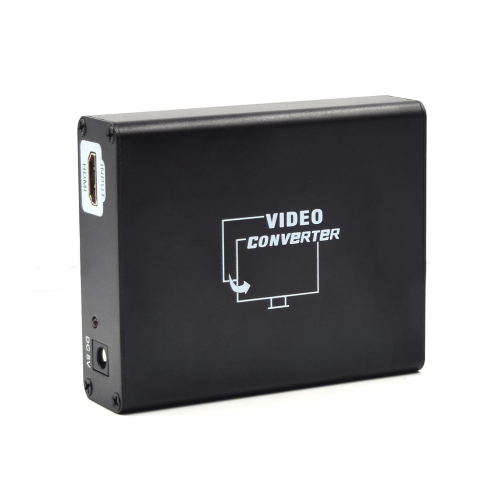 HD HDMI to SCART Composite Video Converter Stereo Audio Adapter With Power Supply Adapter A#S0