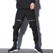 Los hombres Streetwear Hip Hop Punk pantalones Harem pantalón bolsillo  cremallera botas pantalones casuales pantalones de chánda. 1e94c16521c