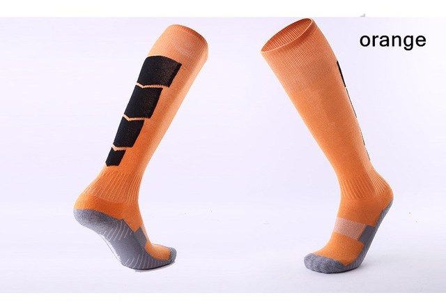 Men Women Sports Professional Football Socks Knee-high Compression towel Wear-resisting Breathable Leggings stocking Soccer Sock