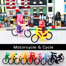 Motorcycle Bicycle Scooter Kayak Model City Mini Figure Soldier Accessory Building Blocks for kids DIY Toys Bricks hot sale(China)