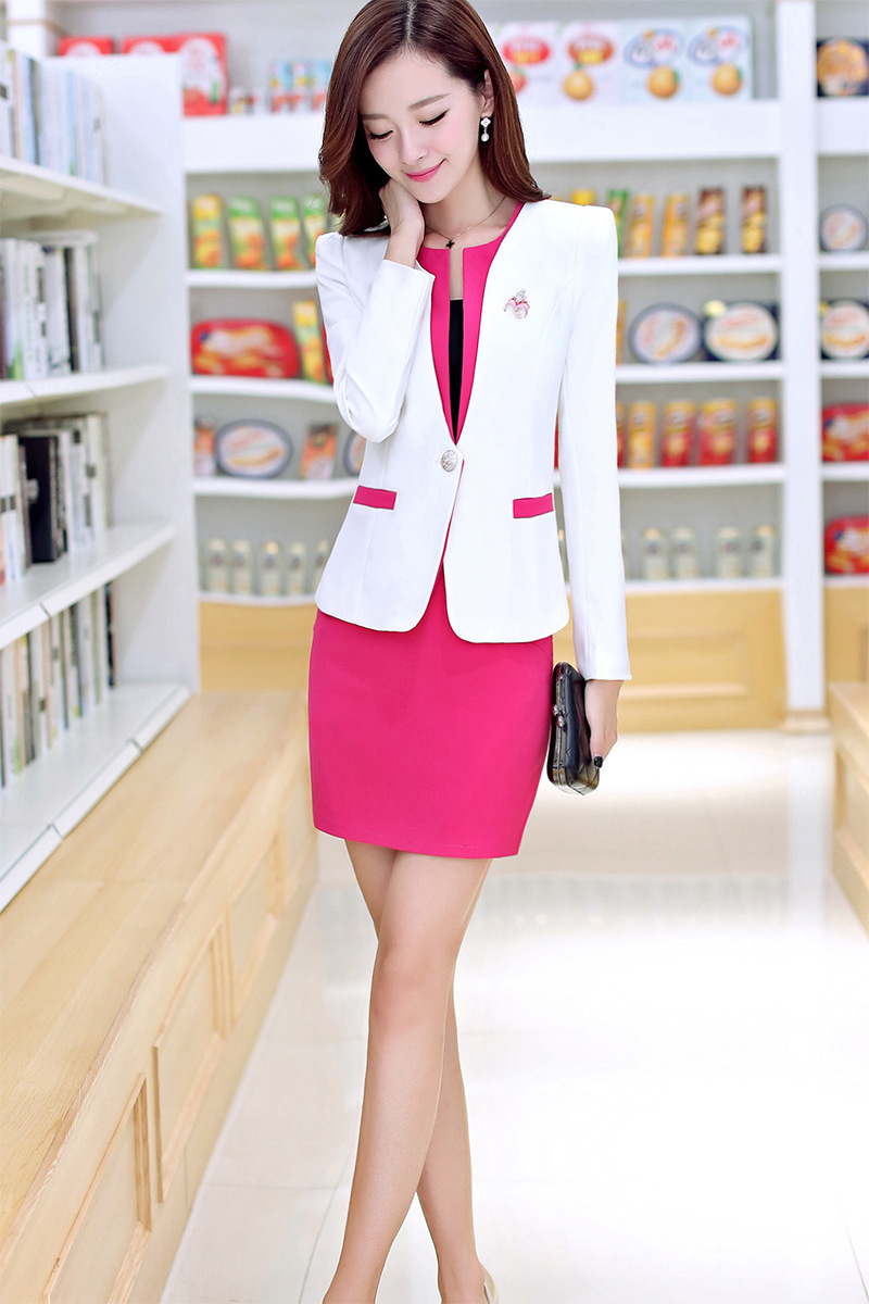 aliexpress com buy spring loaded ladies suit long sleeved aliexpress com buy spring loaded ladies suit long sleeved occupation 2015 new korean hotel beauty salon receptionist service from reliable salon quality