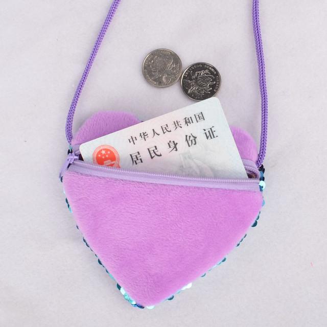 Children Messenger Bag Handbags Cute Kid Toddler School Bags Kindergarten Children Girls Mermaid Sequins Coin Purse 26
