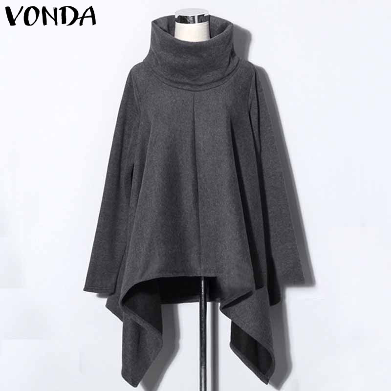 VONDA Pregnant Women Hoodies Sweatshirts 2018 Casual Loose Long Sleeve Pregnancy Tops Plus Size Pullovers Maternity Clothings side bowknot embellished plus size sweatshirts page 6