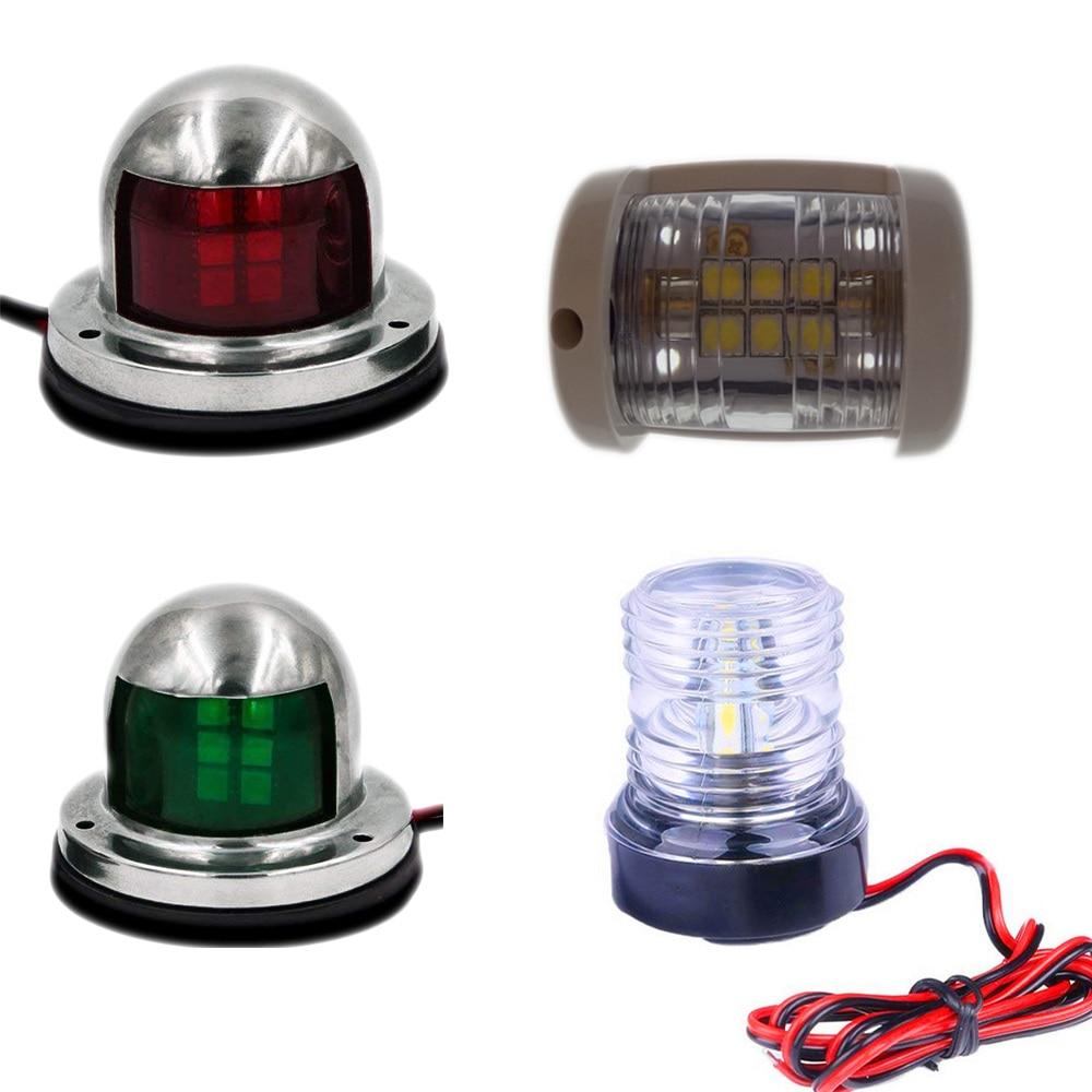2x Boat Navigation Light Marine Yacht Red Waterproof Signal LED Bulb Lamp 12V
