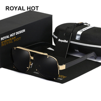 Roayl hot 2018 super fashion luxury Complex pattern Square UV400 brand Adult Men sunglasses glasses