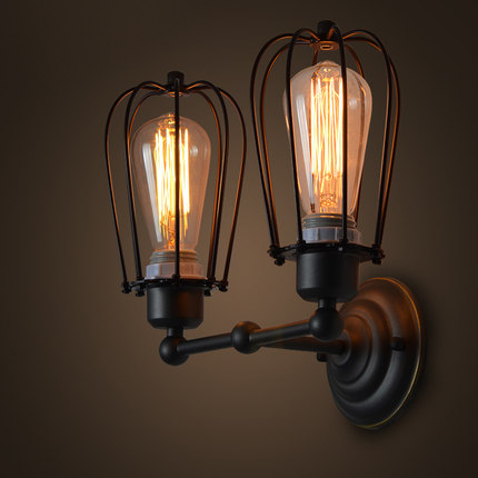 SinFull Loft bar table vintage wall lamp bedside American style iron antique wall lights edison bulb e27 wall sconce american style bedside antique wall lamp single head living room lights vintage fashion bar lamps night lamp hot free shipping