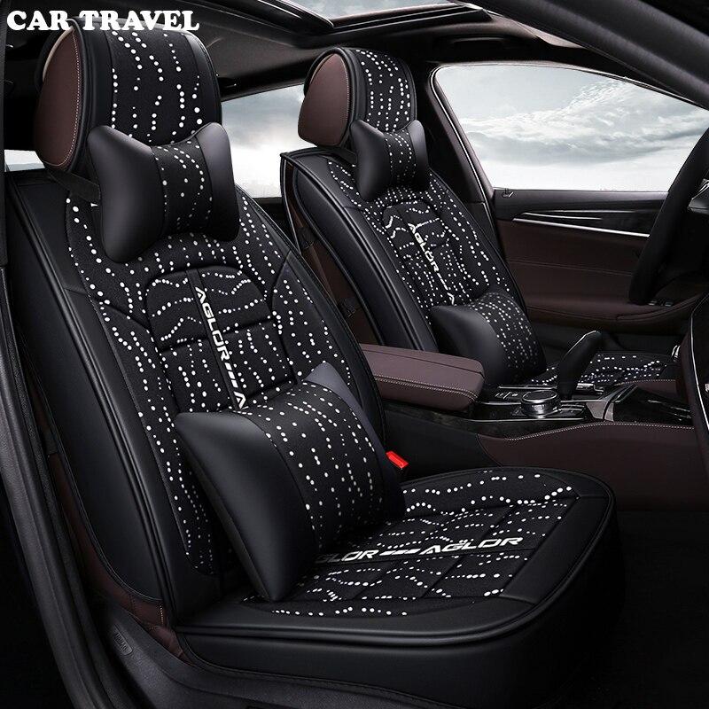 Housse de siège auto universelle en lin pour Hyundai tous modèles i30 ix25 ix35 solaris elantra tucson accent azera lantra