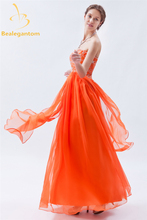 Bealegantom Fashion Embroidery A-Line Evening Dresses 2017 With Beading Plus Size Formal Party Prom Gown Vestido De Festa BE26