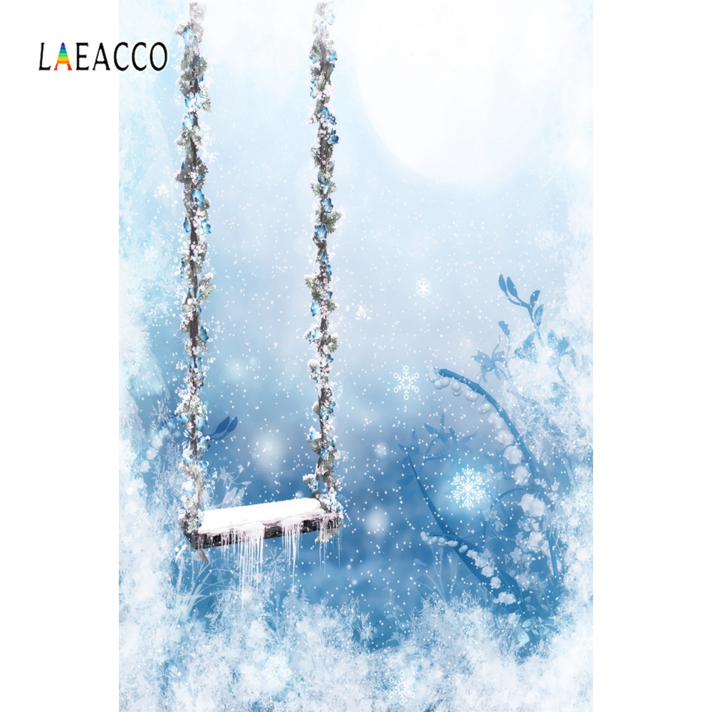 Laeacco Dreamy Flower Swing Backdrop Baby Portrait Photography Backgrounds Customized Photographic Backdrops For Photo Studio