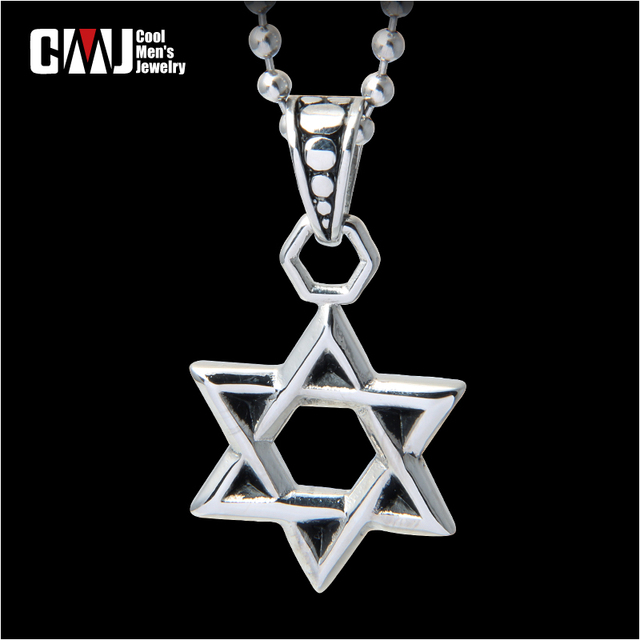 Male fashion hexagram pendants necklace male personality vintage solomon titanium accessories