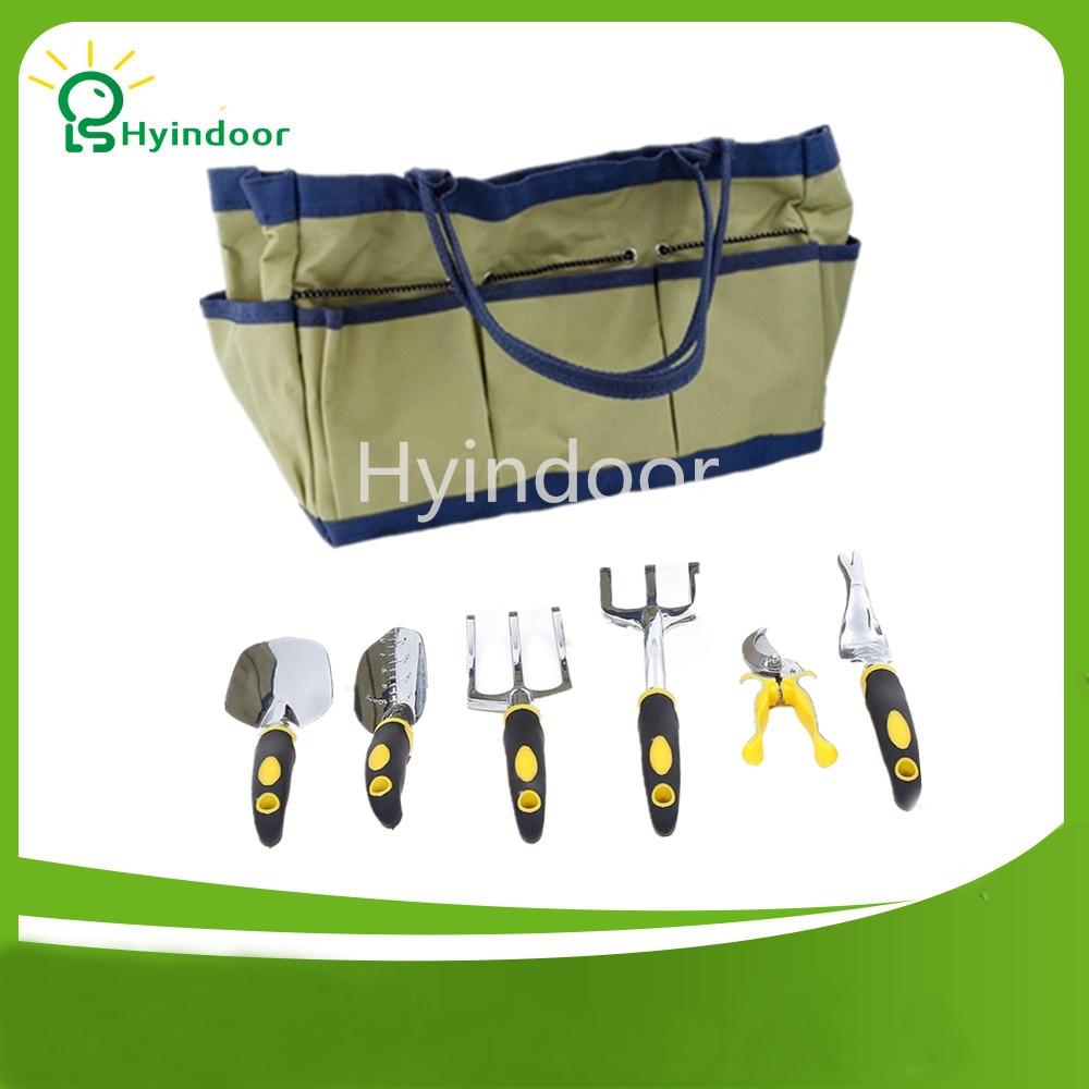 Terylene 600D Εργαλεία κήπου Τσάντα Hardware Tote Garden με 6 εργαλεία χειρός