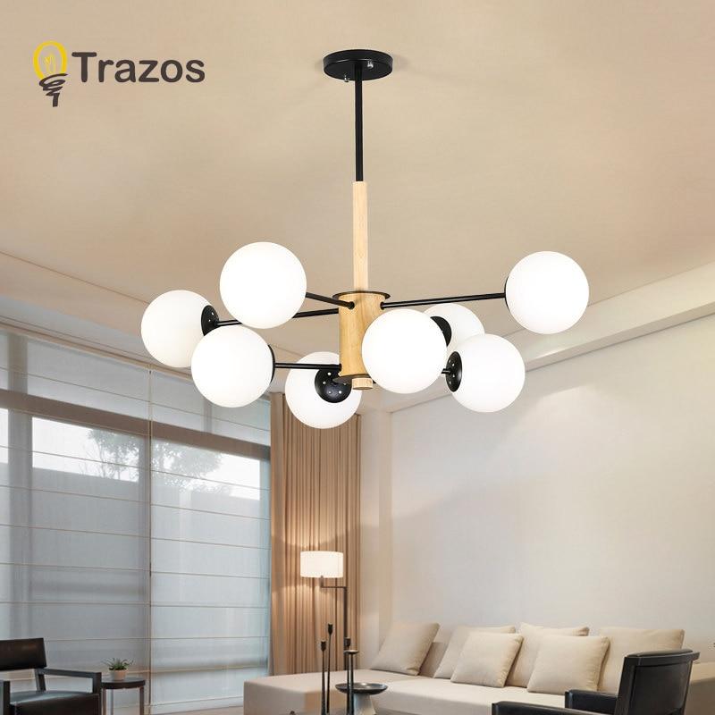 Trazos adjustable lustre led chandelier for living room wood hanging lights lustres para sala de - Lustre pour salon alger ...