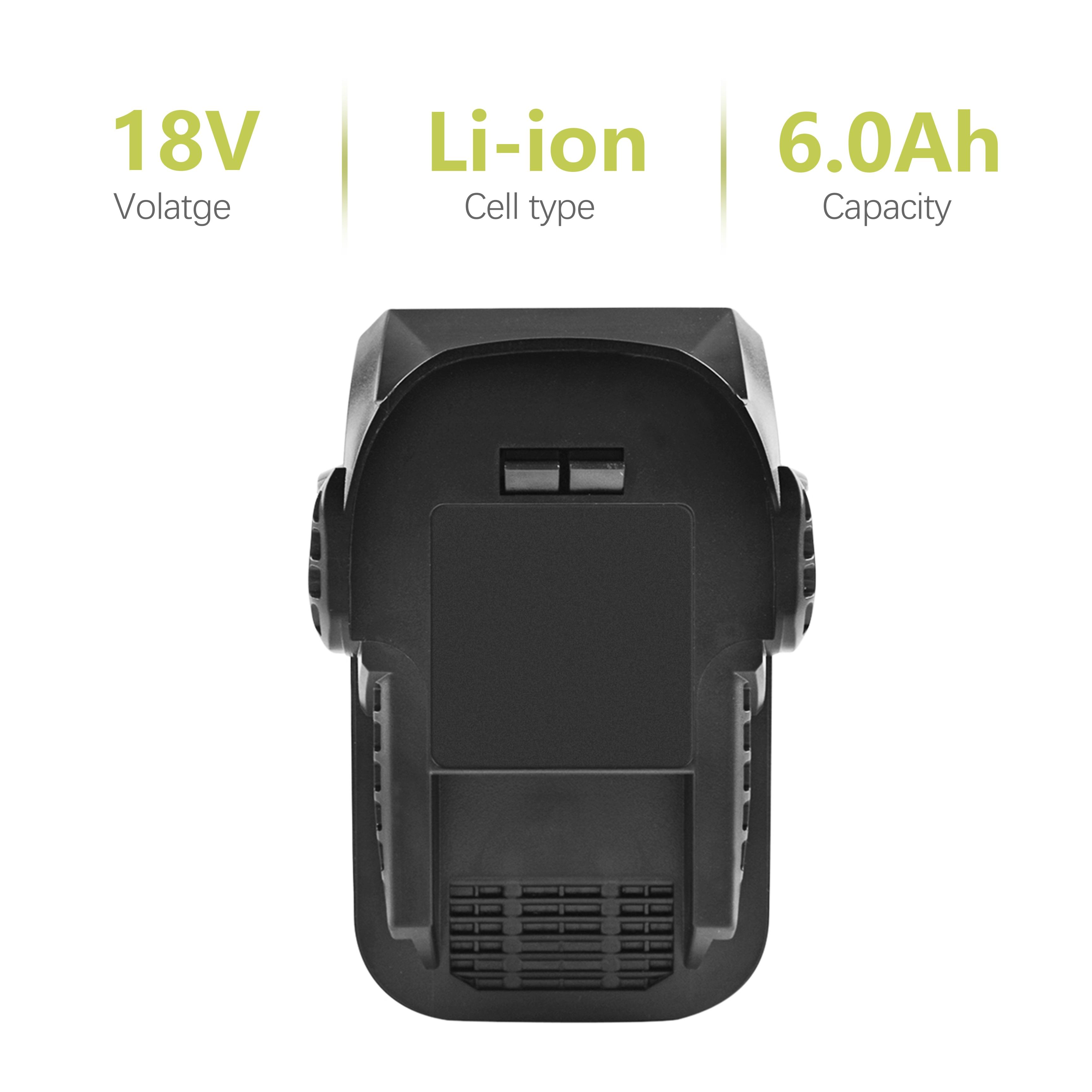 18V 6.0Ah Li-ion R840087 Rechargeable Battery for RIDGID R840083 R840084 R840086 R840087 AC840087 AC840083 AC840084 L10 труборез ridgid 23488