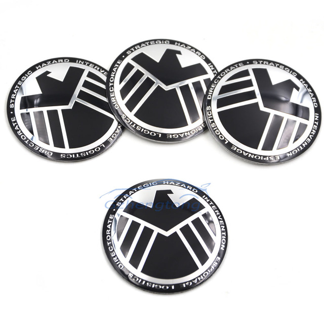 Shield cool universal car steering wheel center hub cap emblem badge decal symbol wheels sticker for