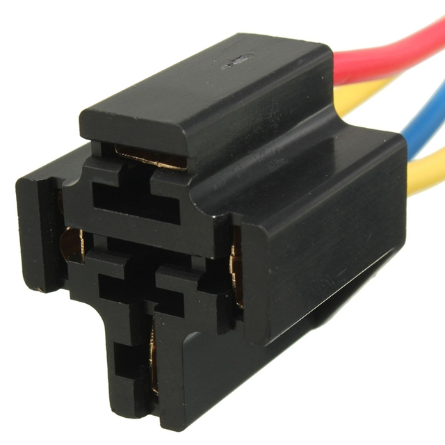 4 Pin Relay Mounting Base Pre Wired Relay Socket Holder With - 4 Prong Relay Part Number
