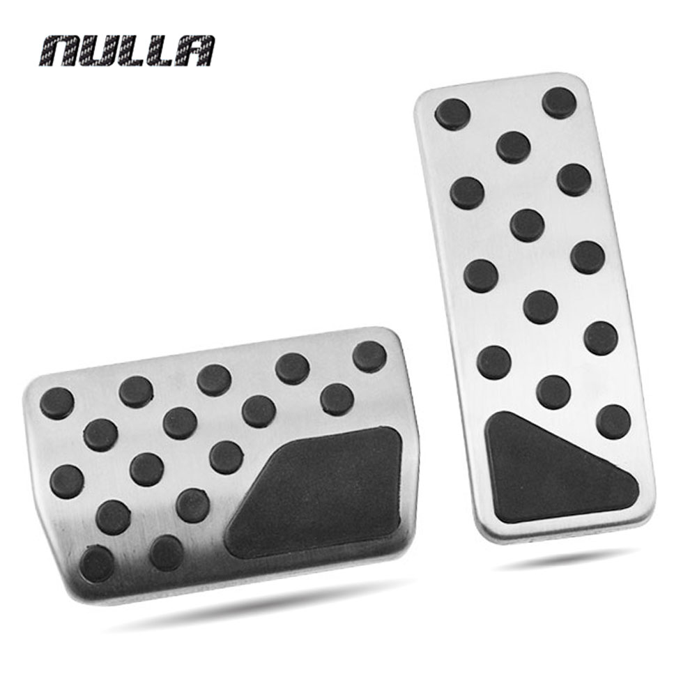 NULLA Stainless Steel Pedals Fuel Brake Silver Accelerator Pedal For Dodge Durango Jeep Grand Cherokee AT LHD Plate Pads nulla tpe