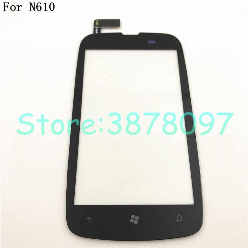 100% الأصلي 3.7 بوصة ل نوكيا Lumia 610 N610 محول الأرقام بشاشة تعمل بلمس الاستشعار الجبهة عدسة زجاج لوحة + أدوات