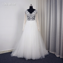 I DUI Bridal Vestido De Noiva Long Sleeve Wedding Dress
