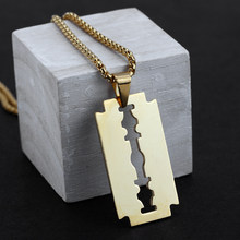 Mcllroy Fashion Gold Necklace Stainless Steel Chain Geometric Pendants & Necklaces For Men Women Punk Choker Jewelry Gifts 2019(China)