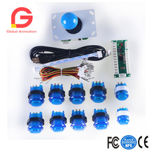 Led Illuminated Arcade Diy Parts Zero Delay Usb Encoder + 8 Way Joystick Push Button