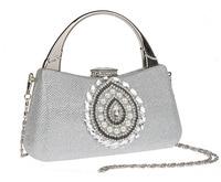 Silver Chinese Women Bag Bridal Wedding Evening Bag Clutch Handbag Party Purse Makeup Bag Fashion F918 2