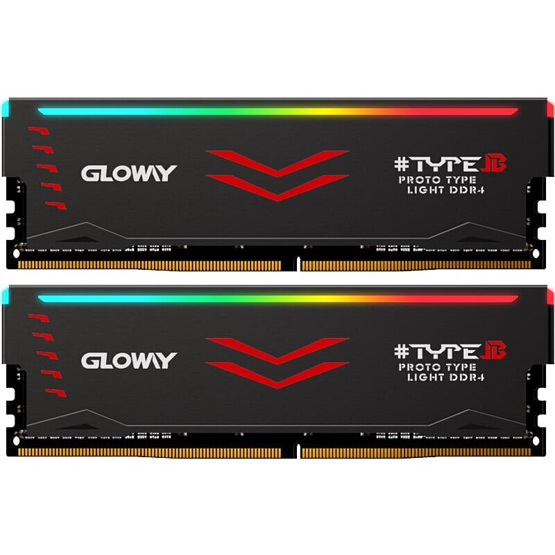 Gloway Type B serie DDR4 8gb * 2 16gb 3000mhz 3200mhz RGB RAM voor gaming desktop dimm met hoge prestaties memoria ram