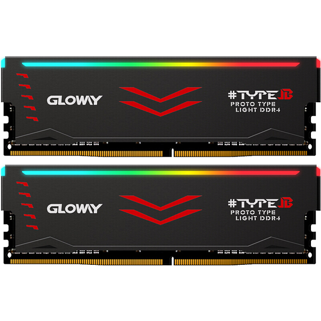 US $105 0 |Gloway Type B series DDR4 8gb 16gb 3000mhz RGB RAM for gaming  desktop dimm with high performance memoria ram -in RAMs from Computer &