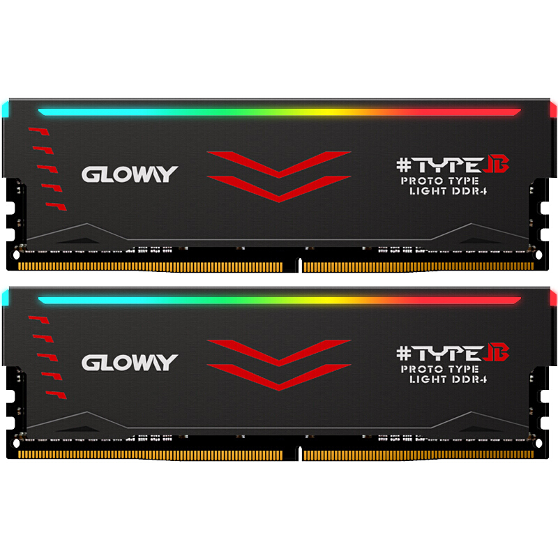 Gloway Type B series DDR4 8gb*2 16gb 3000mhz 3200mhz RGB RAM for gaming desktop dimm with high performance memoria ram image