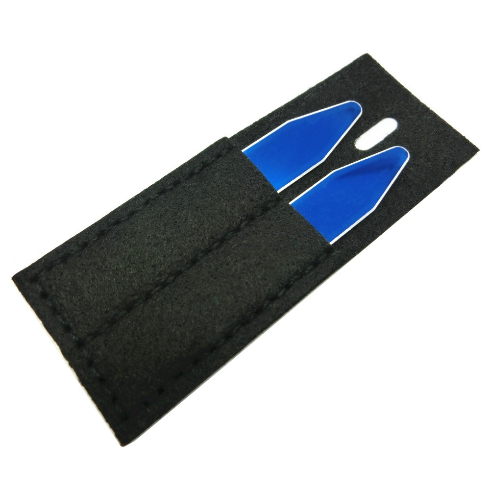 SHANH ZUN Custom Personalized Name Collar Stays Bones For Dress Shirt Blue Color 1 Pair
