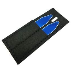 SHANH Зун Индивидуальные Имя воротник остается кости для платье рубашка синий цвет 1 пара