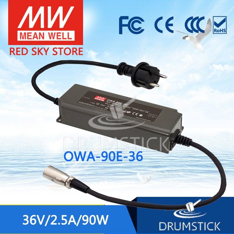 цена на MEAN WELL OWA-90E-36 36V 2.5A meanwell OWA-90E 36V 90W Single Output Moistureproof Adaptor Euro Type