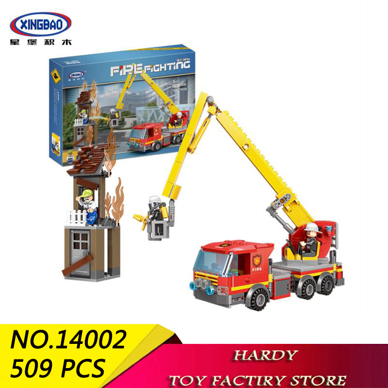 Xingbao 14002 509 PCS City Series High rise Rescue Fire Brigade Assembles Pellet Toy Building Blocks for Children