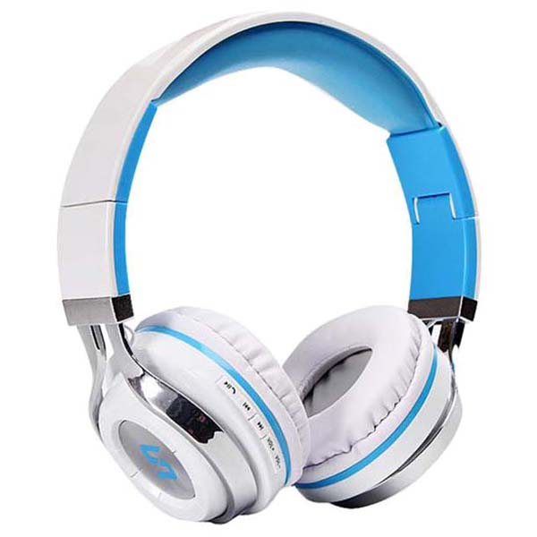 Wireless Bluetooth Foldable Headset Stereo Headphone Earphone for iPhone Samsung - White mini wireless bluetooth 4 0 stereo headset earphone headphone for iphone for samsung