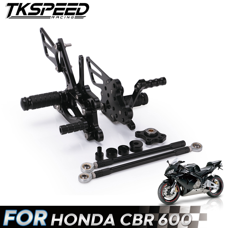 Aluminum Rearsets Rear Sets CNC Parts Motorcycle Adjustable Foot Pegs Pedals Footrest For HONDA CBR 600