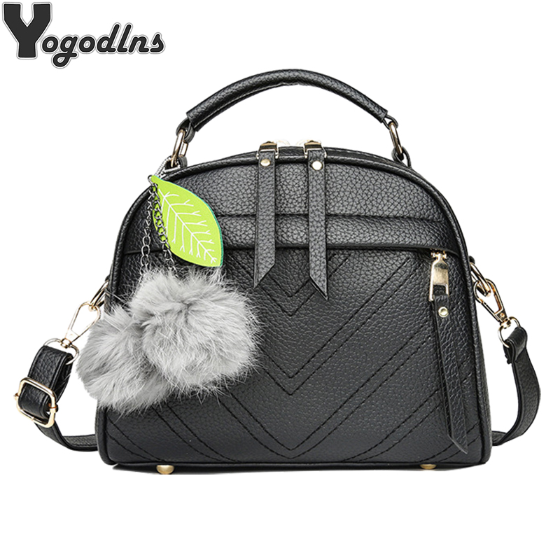 New Fashion PU Women Shoulder Bag Fur Ball Decor Handbags small Flap solid color Crossbody bag Female Top-handle Messenger BagNew Fashion PU Women Shoulder Bag Fur Ball Decor Handbags small Flap solid color Crossbody bag Female Top-handle Messenger Bag