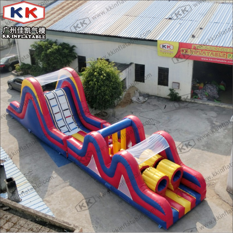 Double Trouble Inflatable Obstacle Course For Adults Rental Outdoor Extreme Sport Games