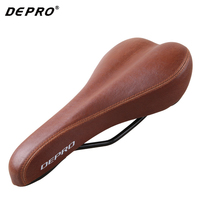 Retro Vintage Leather Bicycle Saddle Seat Custion Road Bike MTB Mountain Sport Saddle Cycling Brown Bike