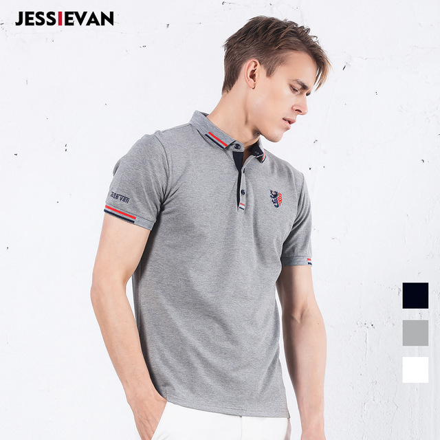 JESSIE VAN Ralph polo Shirt  Boss clothing New Men Business & Casual solid polis