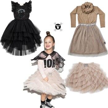 2019 Spring Summer Girls Dress Baby Girl Clothes Nununu Tutu Dress Princess Children Costume Splicing Tulle Girls Party Vestidos girl