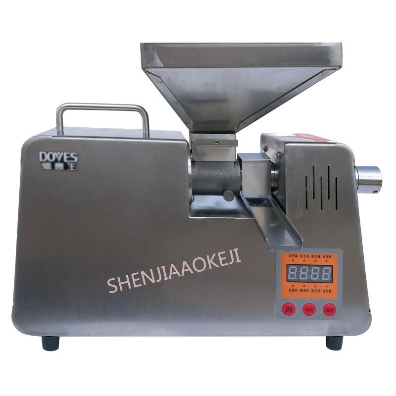 Presse à huile automatique maison petite et moyenne intelligente presse à huile chaude et froide électrique en acier inoxydable presse à huile d'arachide 220 V