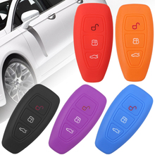 1pcs 3 Button Silicone Key Cover For Ford Fiesta Focus Mondeo Ranger Ecosport Kuga 2 3 ST Car Key Remote Key Case Fob цена