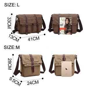 Image 3 - Retro Mannen Messenger Bags Canvas Handtassen Leisure Werk Reistas Man Business Crossbody Tassen Aktetas Voor Mannelijke Bolsas XA108ZC