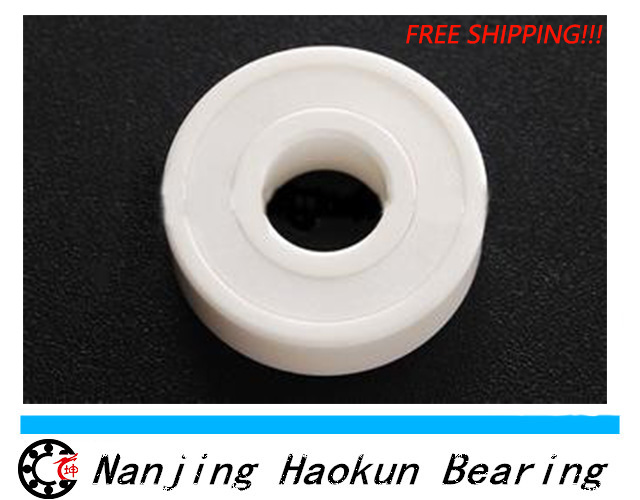 ФОТО Free shipping 6206-2RS full ZrO2 ceramic deep groove ball bearing 30x62x16mm 6206 2RS  high qaulity by Haokun