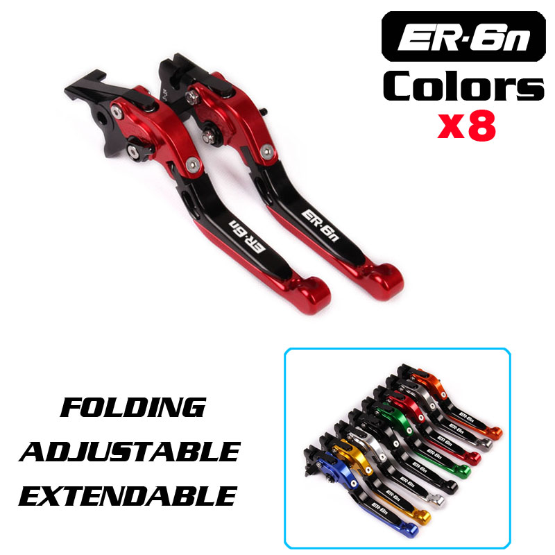 8 Colors CNC Motorcycle Brakes Clutch Levers For KAWASAKI ER6N ER-6N 2009 2010 2011 2012 2013 2014-15 Accessories Free shipping adjustable racing brake clutch levers for kawasaki er6n er 6n 06 07 08 09 12 13 14 15 16 free shipping motorcycle